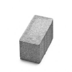 Тротуарная плитка Авеню  Брусчатка безфасочная 20-10-8 серый