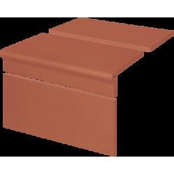 Клинкерные ступени(01) Комплект РИМСКИЙ Рифленый Красный