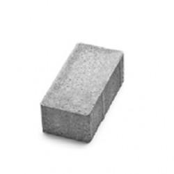 Тротуарная плитка Авеню  Брусчатка безфасочная 20-10-6 серый